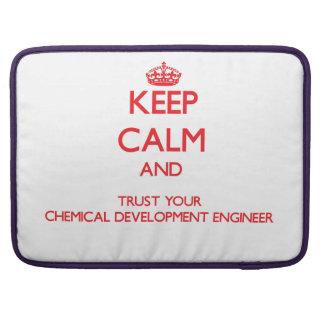 Guarde la calma y confíe en su desarrollo químico funda macbook pro