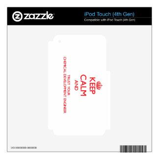 Guarde la calma y confíe en su desarrollo químico skins para iPod touch 4G
