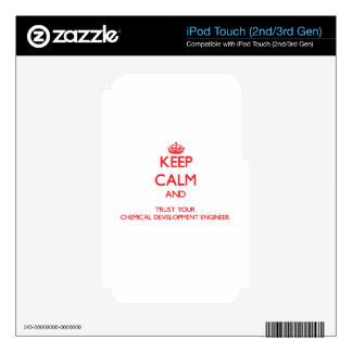 Guarde la calma y confíe en su desarrollo químico calcomanías para iPod touch 3G