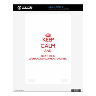 Guarde la calma y confíe en su desarrollo químico skins para kindle