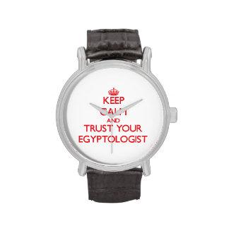 Guarde la calma y confíe en su Egyptologist Reloj