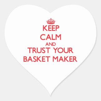 Guarde la calma y confíe en su fabricante de cesta