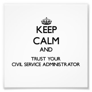 Guarde la calma y confíe en su función pública Adm