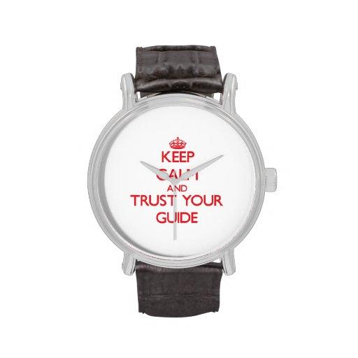 Guarde la calma y confíe en su guía relojes de mano