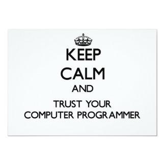Guarde la calma y confíe en su informático anuncio personalizado