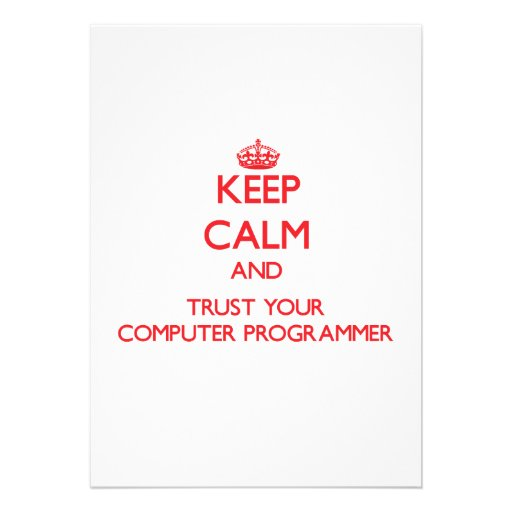 Guarde la calma y confíe en su informático comunicado