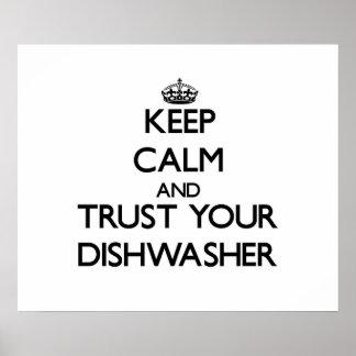 Guarde la calma y confíe en su lavaplatos impresiones