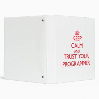 Guarde la calma y confíe en su programador