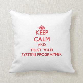 Guarde la calma y confíe en su programador cojines