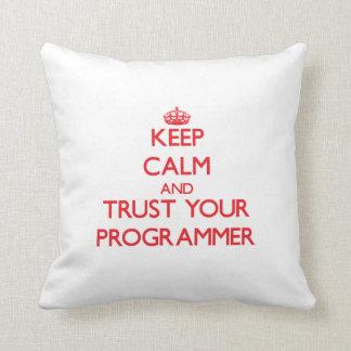 Guarde la calma y confíe en su programador almohada