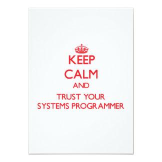 Guarde la calma y confíe en su programador invitacion personalizada