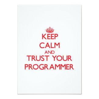 Guarde la calma y confíe en su programador comunicado