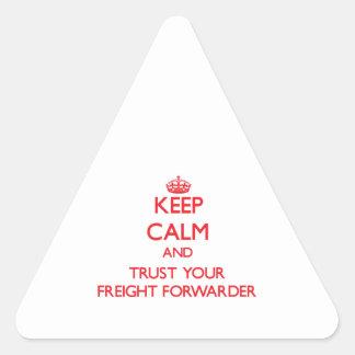 Guarde la calma y confíe en su promotor de carga