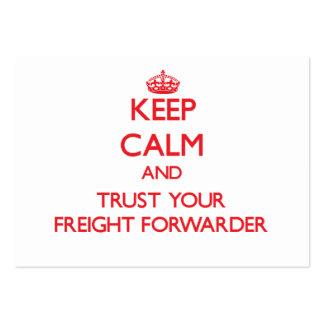 Guarde la calma y confíe en su promotor de carga tarjetas de visita grandes