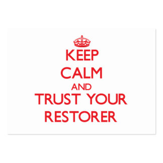 Guarde la calma y confíe en su restaurador tarjetas de visita grandes