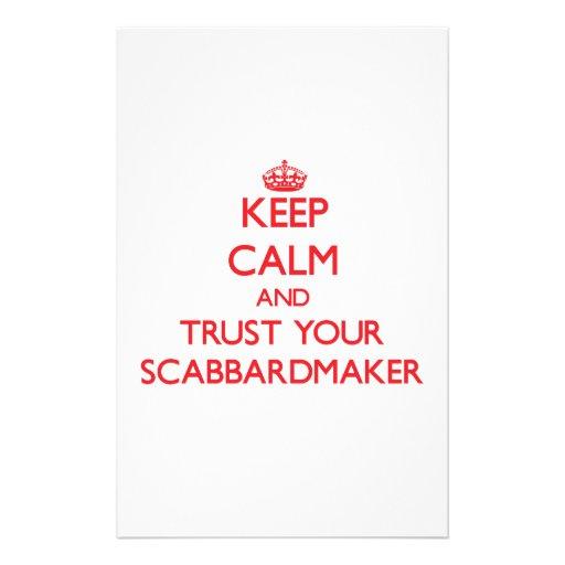 Guarde la calma y confíe en su Scabbardmaker Papelería De Diseño