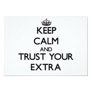 Guarde la calma y confíe en su suplemento comunicados personales