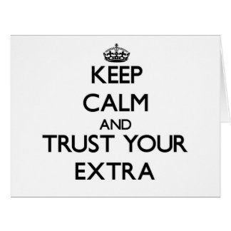 Guarde la calma y confíe en su suplemento felicitación