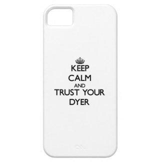 Guarde la calma y confíe en su tintóreo iPhone 5 funda