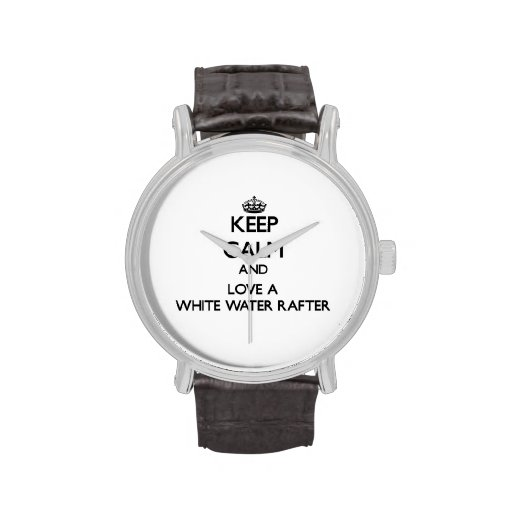 Guarde la calma y confíe en su viga del agua blanc reloj
