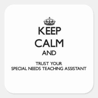 Guarde la calma y confíe en sus necesidades especi