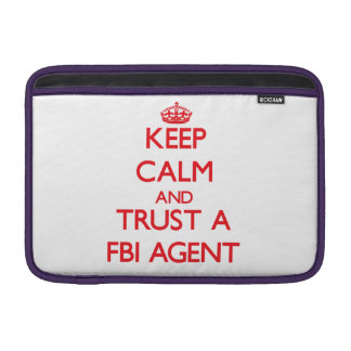 Guarde la calma y confíe en un agente del FBI Funda Macbook Air