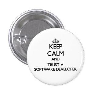 Guarde la calma y confíe en un analista de chapa redonda 2,5 cm
