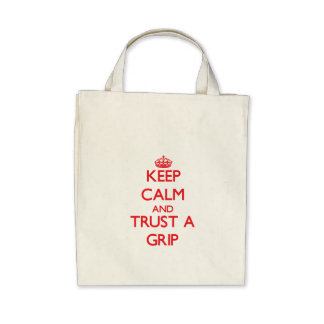 Guarde la calma y confíe en un apretón bolsa