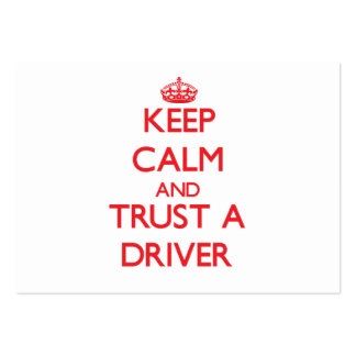 Guarde la calma y confíe en un conductor plantilla de tarjeta de negocio