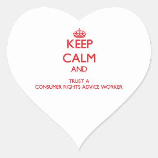 Guarde la calma y confíe en un consejo Worke de la Pegatina De Corazón