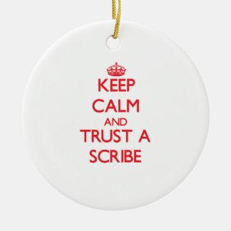 Guarde la calma y confíe en un escribano adornos de navidad