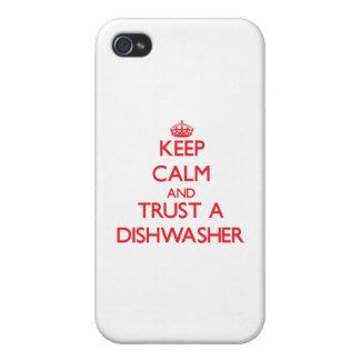 Guarde la calma y confíe en un lavaplatos iPhone 4 cobertura
