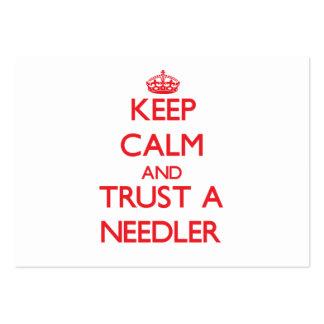 Guarde la calma y confíe en un Needler Tarjetas De Visita