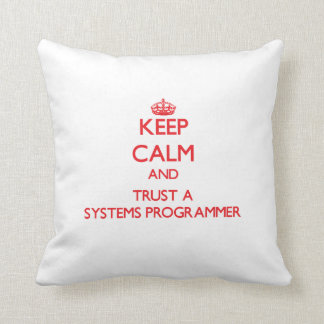 Guarde la calma y confíe en un programador cojines