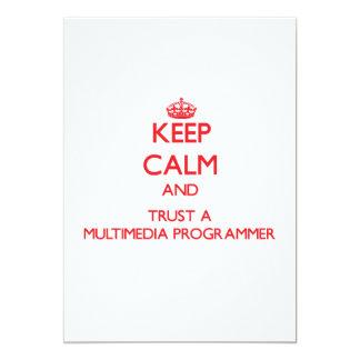 Guarde la calma y confíe en un programador de las comunicados personales