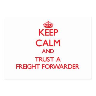 Guarde la calma y confíe en un promotor de carga tarjetas de visita grandes