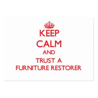 Guarde la calma y confíe en un restaurador de los  tarjetas de visita grandes