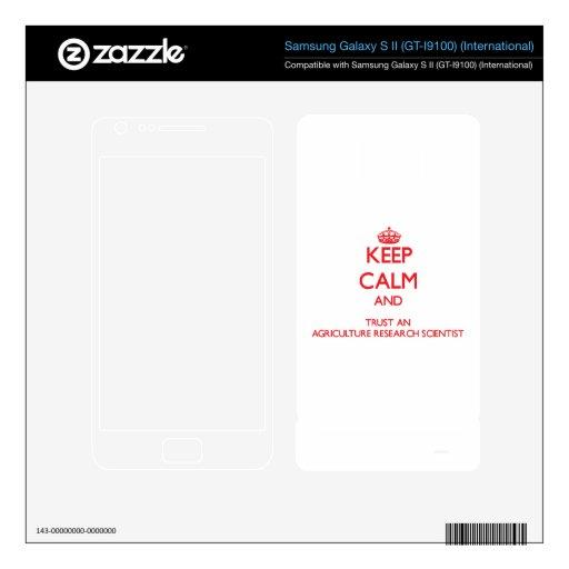 Guarde la calma y confíe en una investigación Scie Samsung Galaxy S II Calcomanía