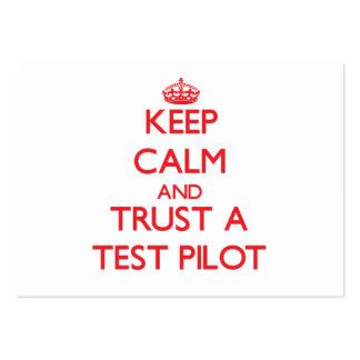 Guarde la calma y confíe en una prueba tarjeta de visita