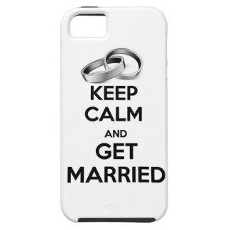 Guarde la calma y consiga casado iPhone 5 fundas