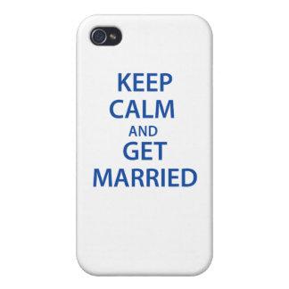 ¡Guarde la calma y consiga casado! iPhone 4 Carcasa