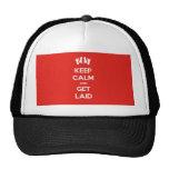 Guarde la calma y consiga puesto gorras
