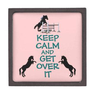 Guarde la calma y consiga sobre ella el caballo cajas de recuerdo de calidad