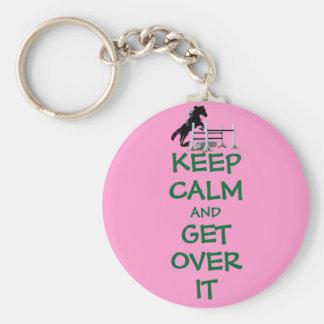 Guarde la calma y consiga sobre ella el caballo llavero personalizado