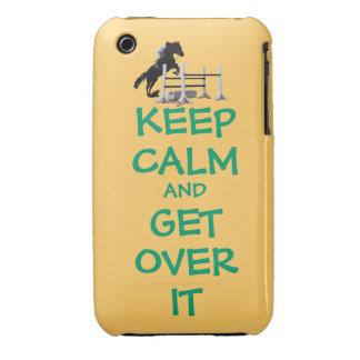 Guarde la calma y consiga sobre ella iPhone 3 carcasas