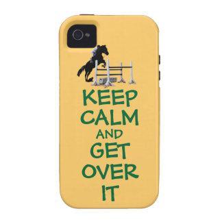 Guarde la calma y consiga sobre ella vibe iPhone 4 fundas