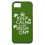 Guarde la calma y consiga su irlandés en iPhone 5 fundas