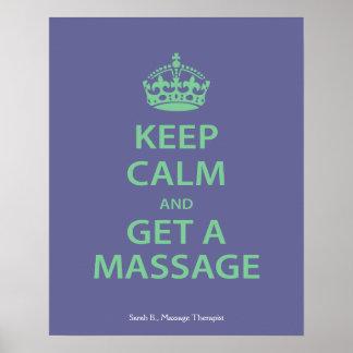 Guarde la calma y consiga un masaje impresiones