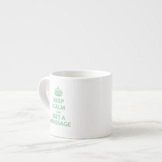 Guarde la calma y consiga un masaje taza espresso