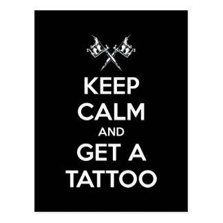Guarde la calma y consiga un tatuaje tarjetas postales